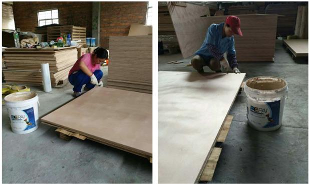 【得牌案例】多层地板基材,多层板坑洞修补用哪种腻子好?